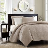 Quebec Khaki Coverlet by Madison Park - BeddingSuperStore.com