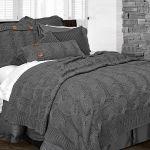 Sinclair Grey Decorative Pillow Large Square
