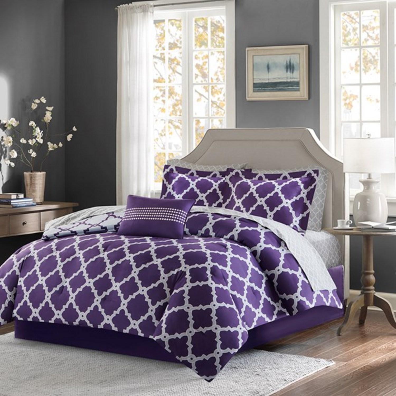 Merritt Purple Grey by Madison Park  BeddingSuperStorecom