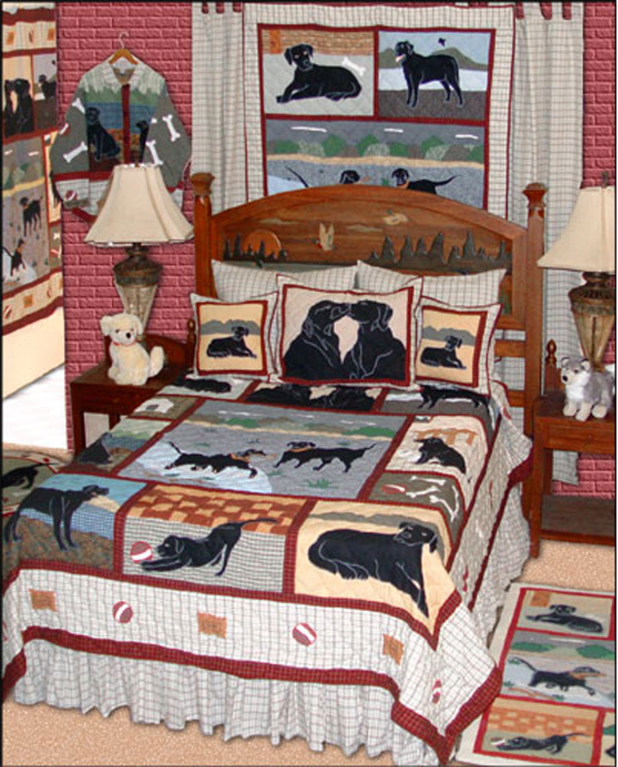 Black Lab by Patchmagic Quilts  BeddingSuperStorecom