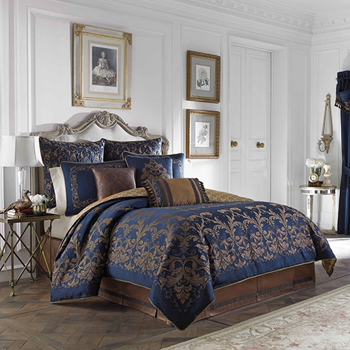 monroe blue  croscill home fashions beddingsuperstorecom