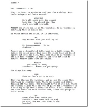 empty script