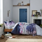 White Navy Coastal Stripe Bedding Joules Bedding Bedeck Home