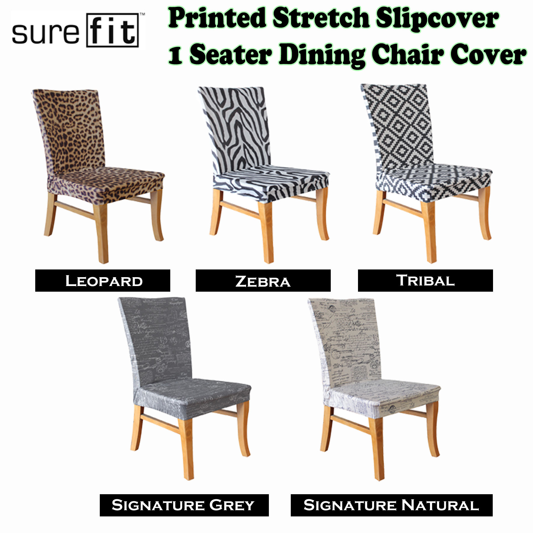 stretch dining chair covers uk childrens folding chairs printed cover choose your design by