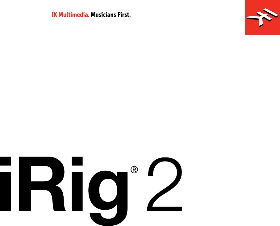 Bedienungsanleitung IK Multimedia iRig 2 (14 Seiten)
