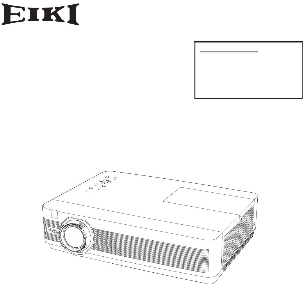 Bedienungsanleitung EIKI LC-XB250A (79 Seiten)