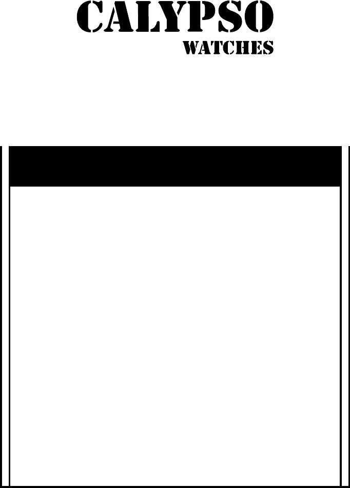 Bedienungsanleitung Calypso K5785 (13 Seiten)