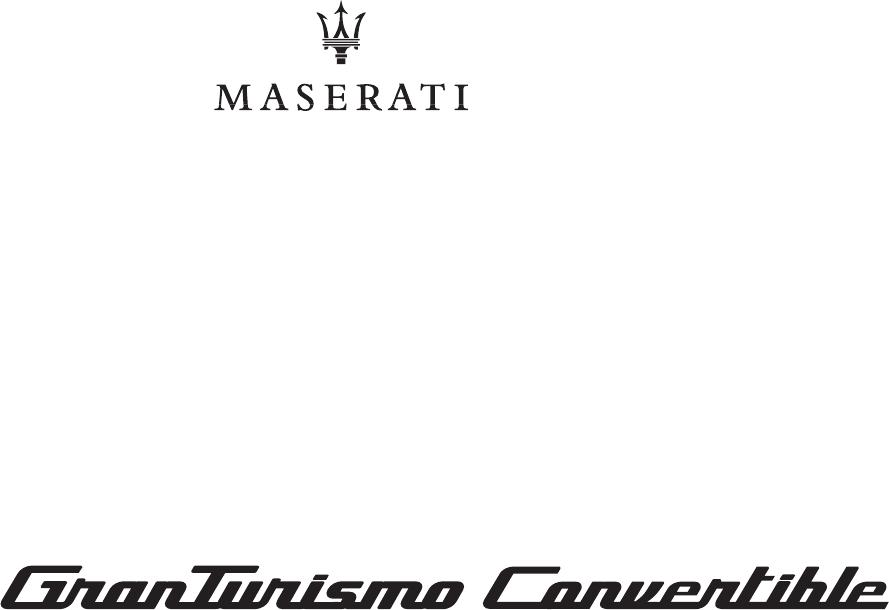 Bedienungsanleitung Maserati GranTurismo Convertible (2018