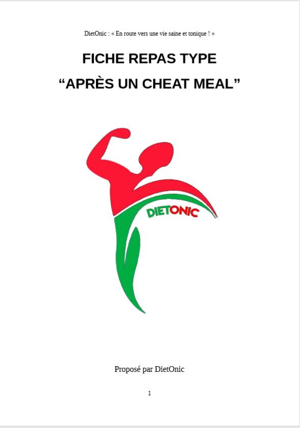 """Fiche """"Après un Cheat Meal"""""""