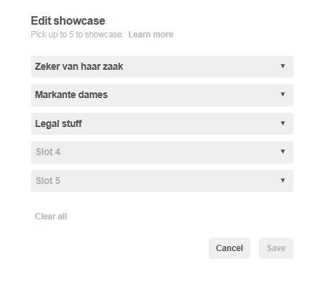 Pinterest edit showcase