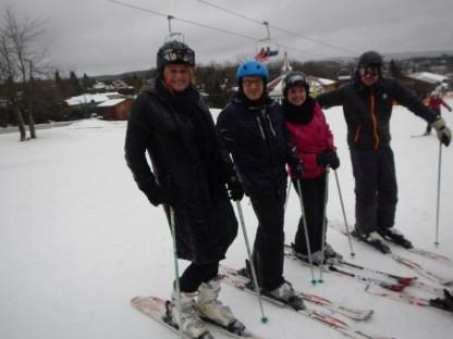 de skiërs