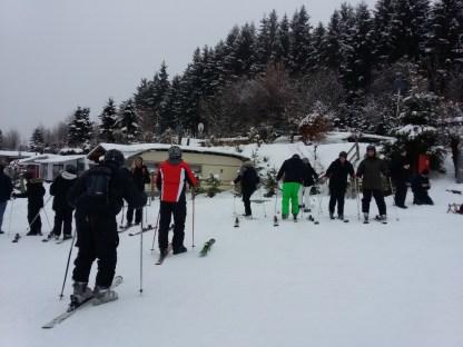Eerst maar eens met 1 ski