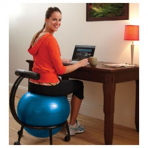 ergonomic yoga chair bamboo couch and chairs the kneeling vs ball battle for ergonomics gaiam custom fit balance