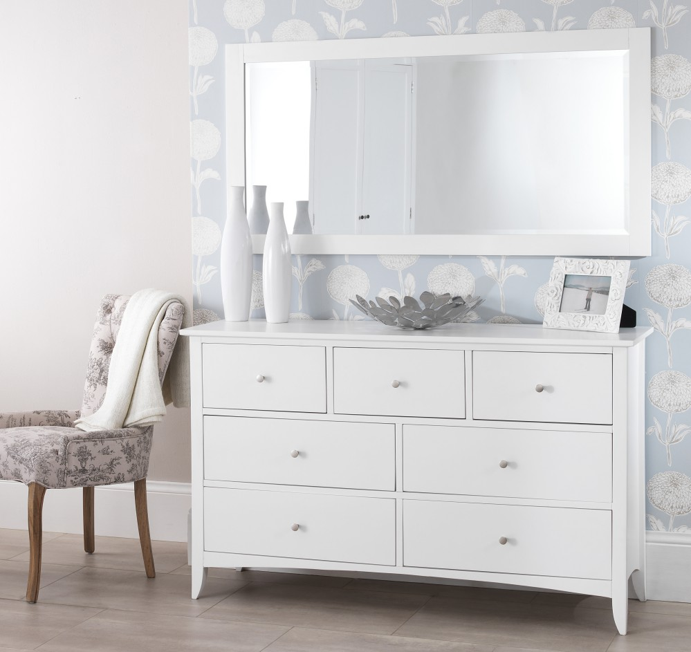 Edward Hopper white chest of drawers ASSEMBLED metal