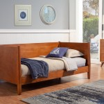 Alpine Furniture Flynn Mid Century Modern Twin Size Day Bed In Acorn 966 09t