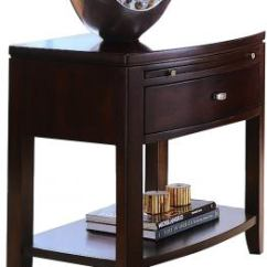 American Drew Tribecca Sofa Table Buoyant Upholstery Beds Leg Nightstand In Brown