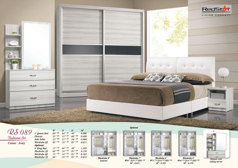 Ivory  Bedroom Furniture Set Malaysia