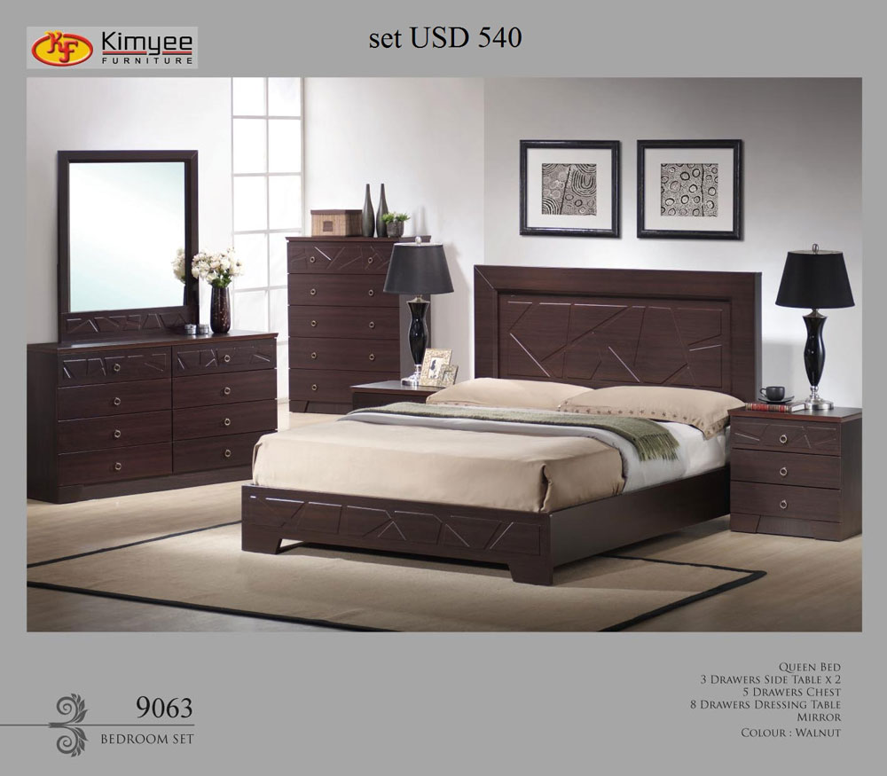 Wenge  Bedroom Furniture Set Malaysia