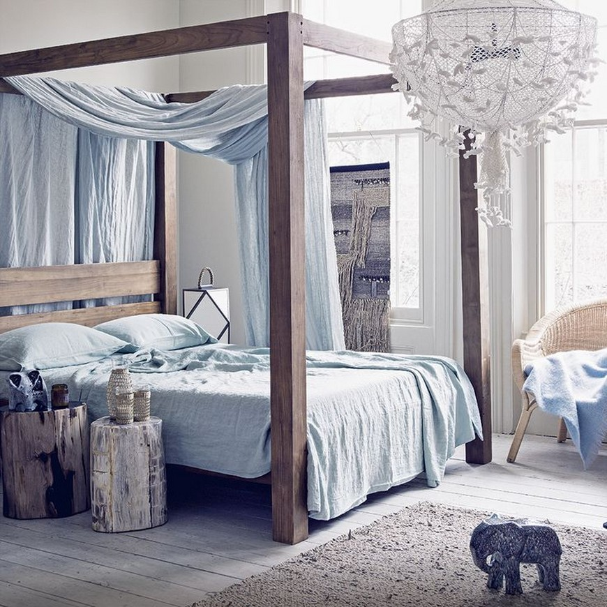 Bedroom Designs with BohemianStyled Four Poster Beds