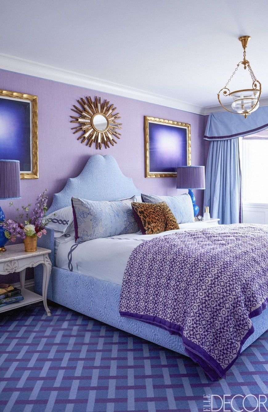 Find the Most Fashionable Bedroom Designs in Purple Tones