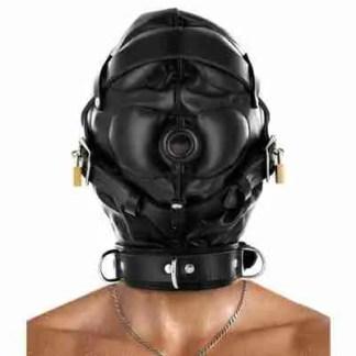 Strict Leather Sensory Deprivation Hood 1