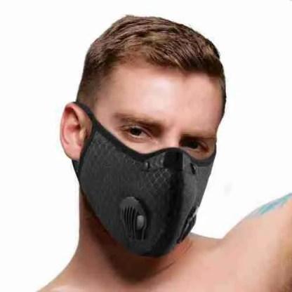 Quarantined Black Fashion Face Mask 2