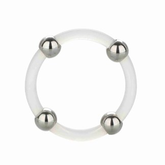 Steel Beaded Silicone Ring Large 1