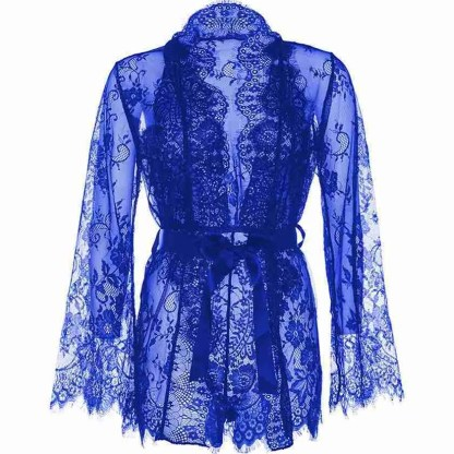 Leg Avenue Floral Lace Teddy and Robe 4