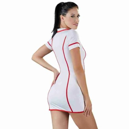 Cottelli Costumes White And Red Nurses Dress 2