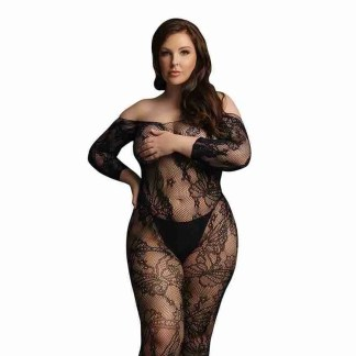 Le Desir Lace Sleeved Bodystocking UK 14 to 20 1