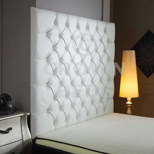 Tall White Leather Headboard