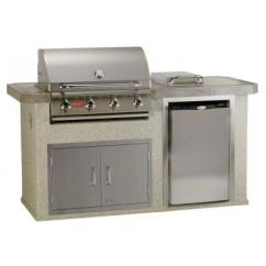 Bbq Kitchen Retro Style Appliances Bull Power Q In Stucco Or Rock Outdoor Island