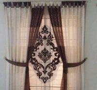 Brown & Off white Parda for Sale in Pakistan