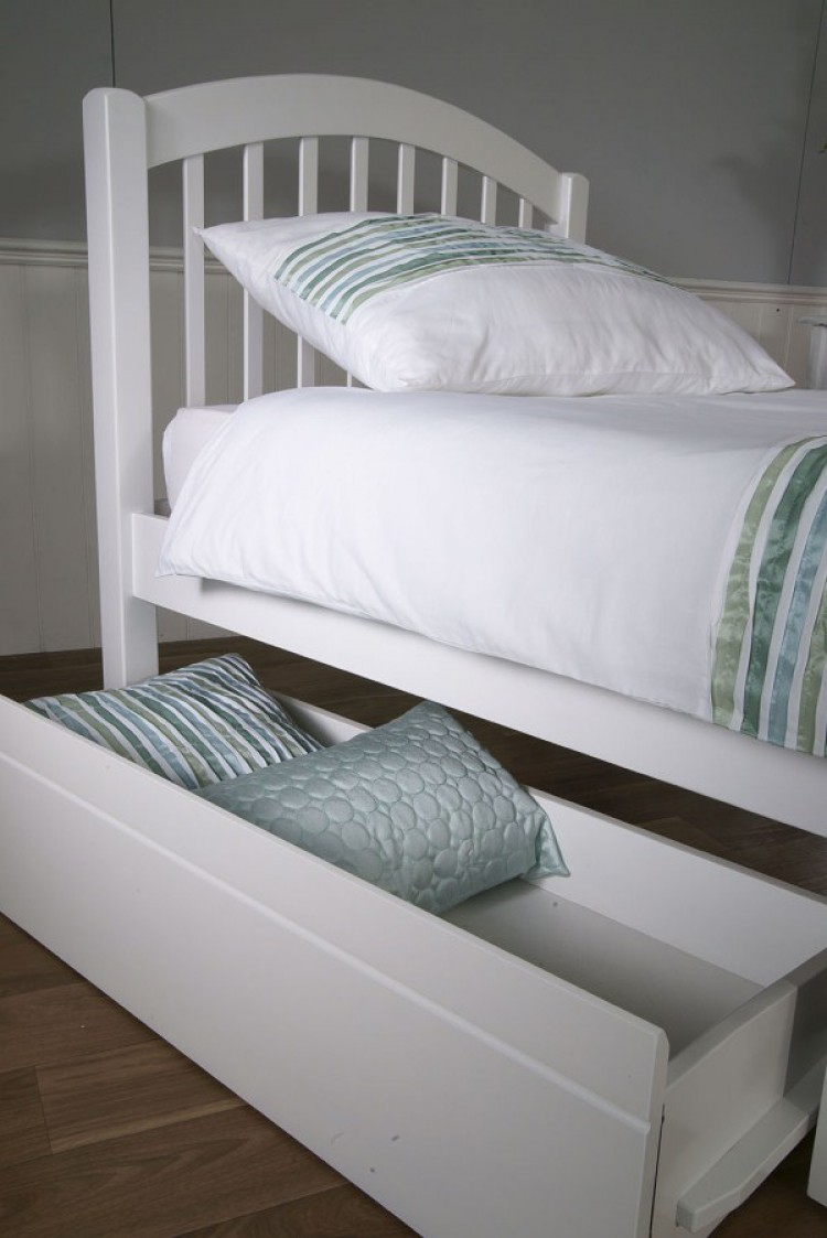 Limelight Despina 3ft Single White Wooden Bed Frame With