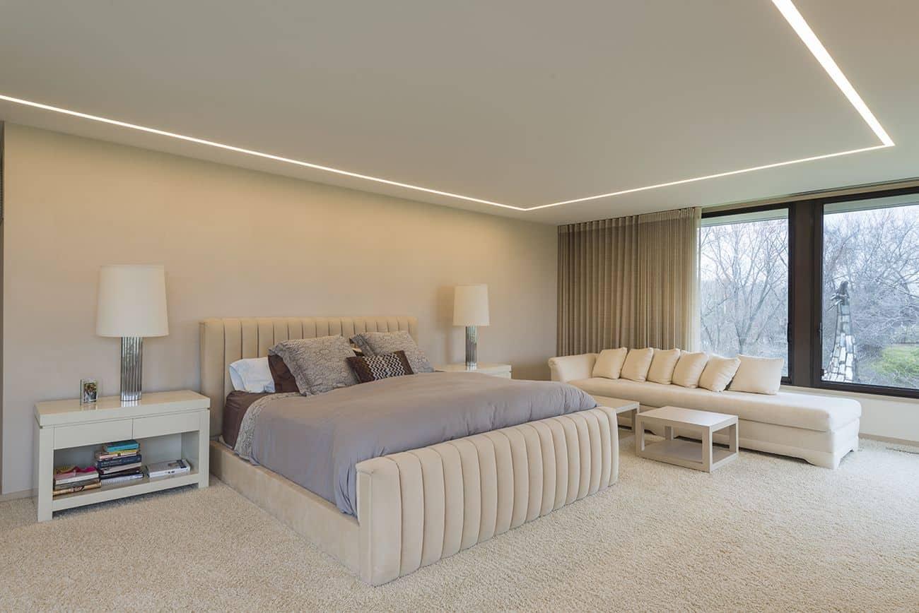 modern bedroom lighting design