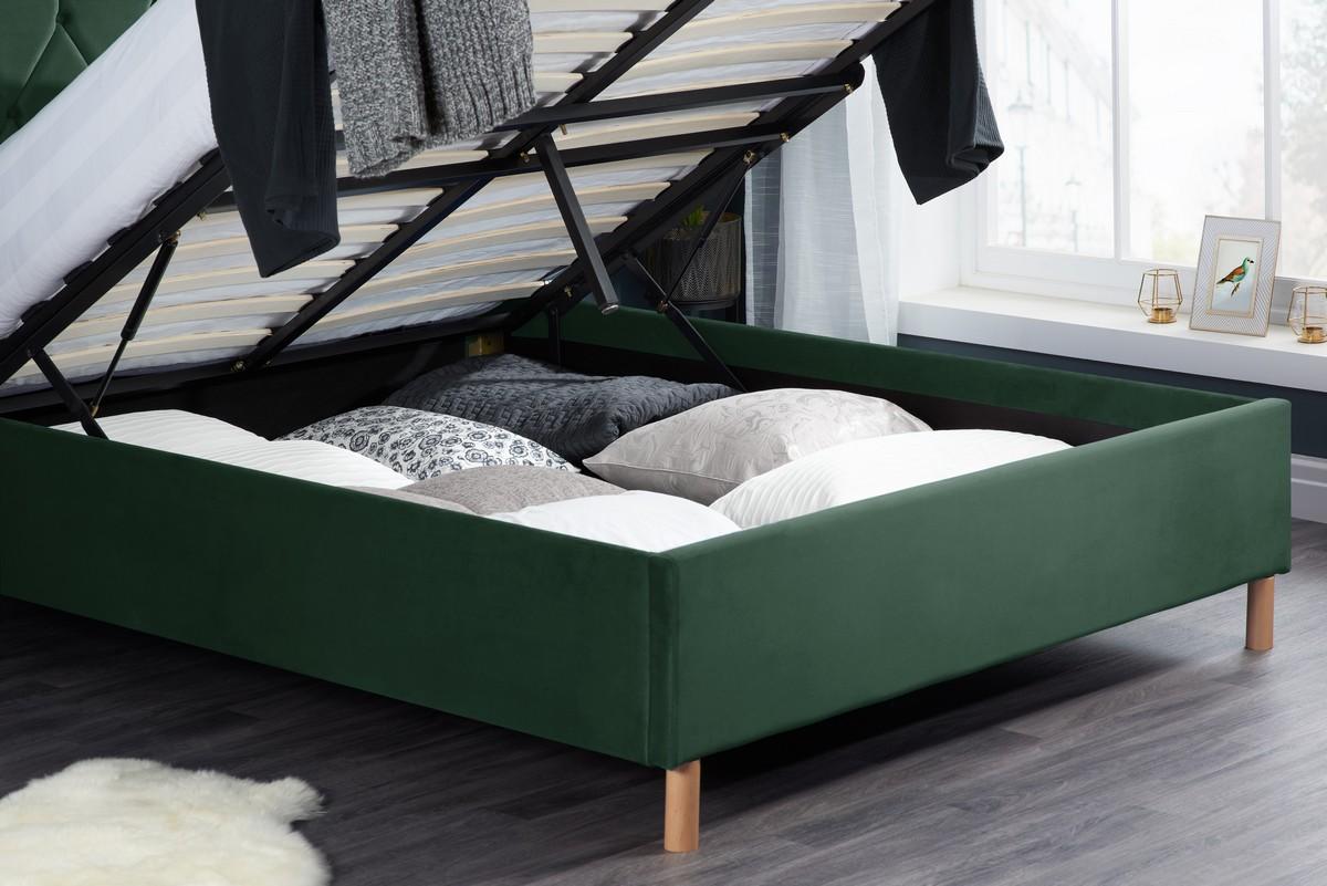 birlea loxley 4ft 6 double ottoman bed green