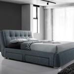 Artisan 4 Drawer 5ft Kingsize Fabric Bedframe Dark Grey