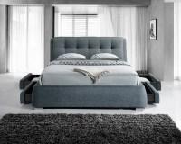 Artisan 4 Drawer 5FT Kingsize Fabric Bedframe - Dark Grey