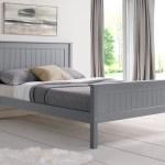 Limelight Beds Taurus 4ft 6 Double Wooden Bedstead Grey