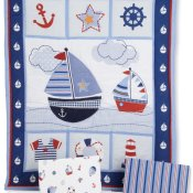 Bedtime Originals Sail Away Nautical Crib Bedding