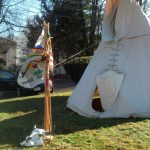 This tipi owned by Wendell Deer With Horns will be erected on the Middlebury Green Saturday morning prior to a ceremony honoring veterans. (Submitted photo)
