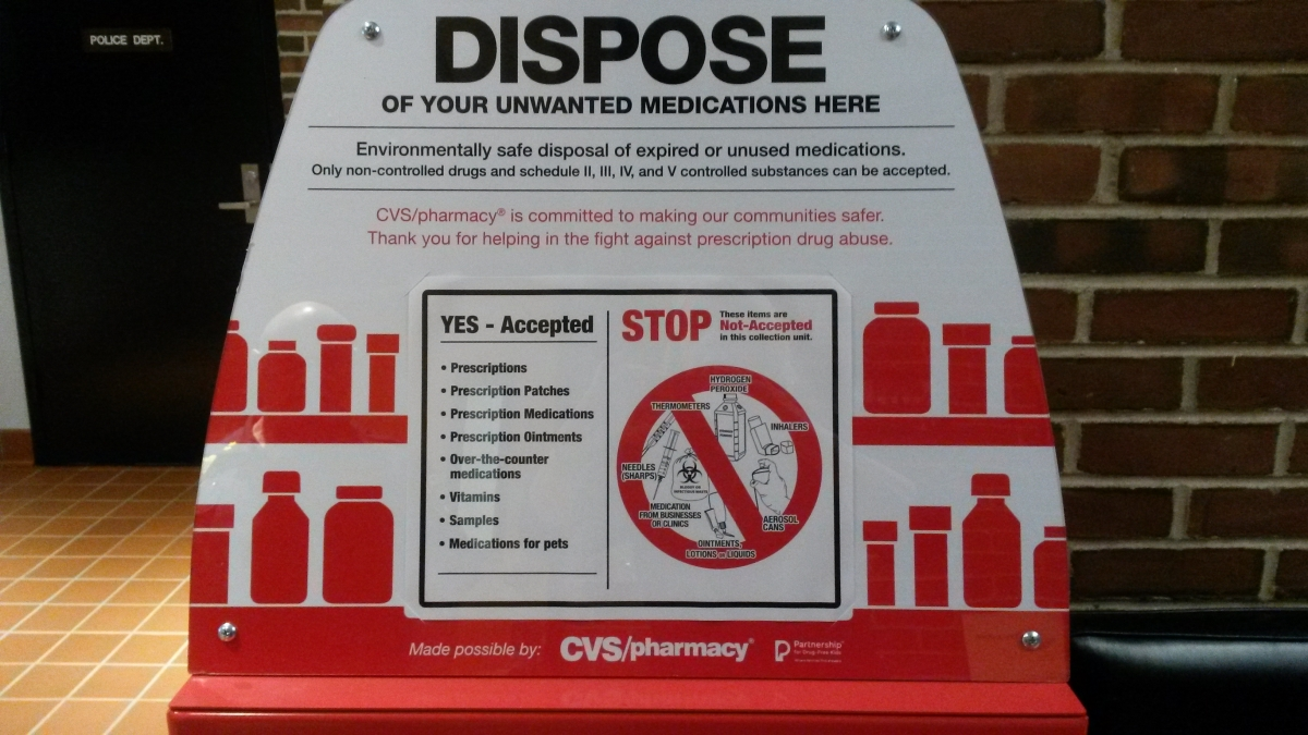 safely dispose of unwanted medications at police station bee
