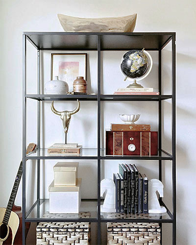 Shelf styling by Beebout Design
