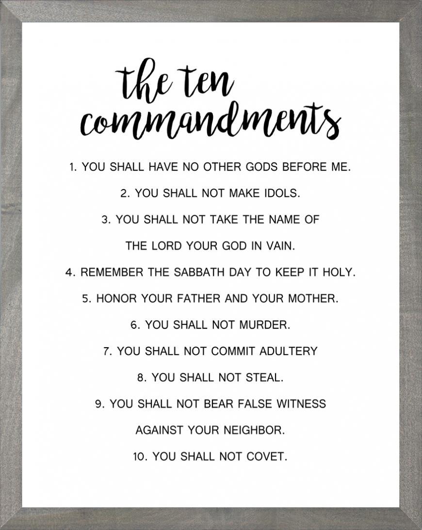 Ten Commandments (white)