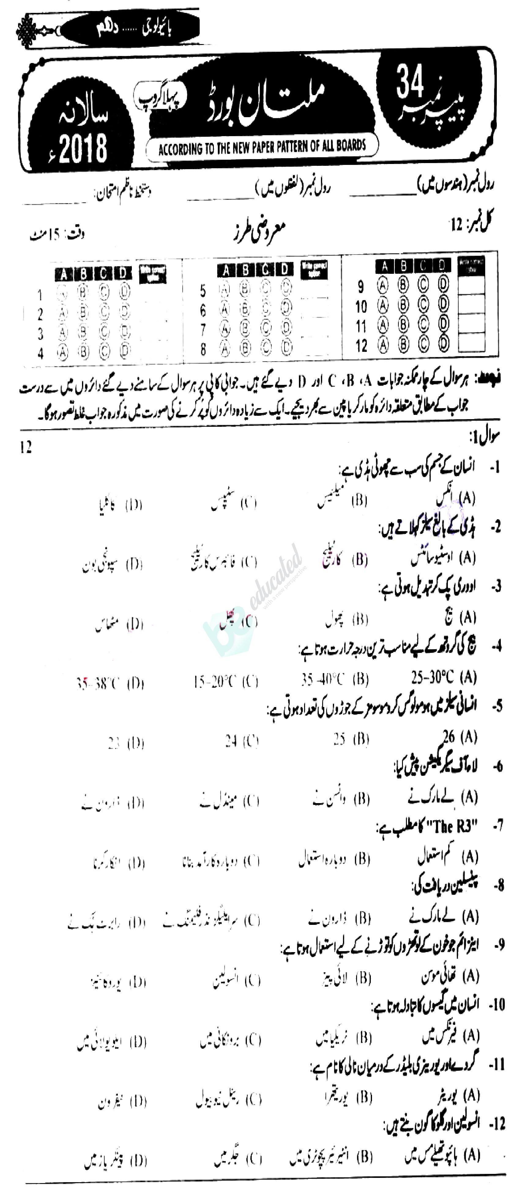 CLASSNOTES: 10th Class Biology Notes In Urdu