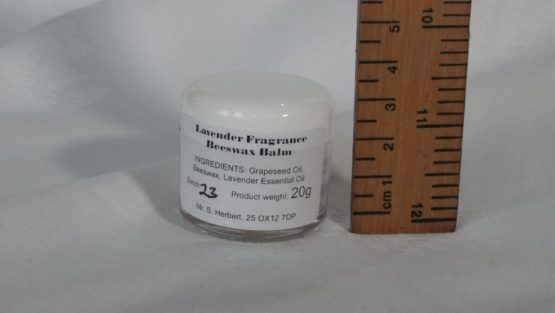 Lavender Fragrance Beeswax Balm Measured