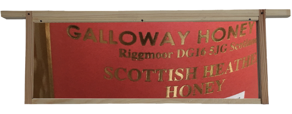 GallowayHoneyFarm Label set in hive frame