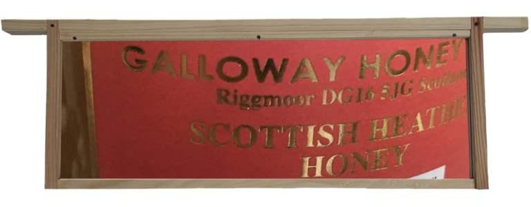 GallowayHoneyFarm Label set in hive frame
