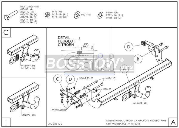 AHK PKW Mitsubishi ASX 10-11 starr