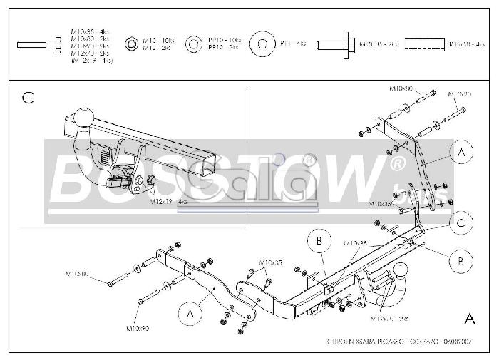 AHK PKW Citroen Xsara Picasso 99-04 abnehmbar